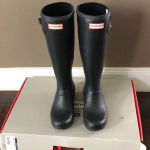 Hunter original tour boots size 5